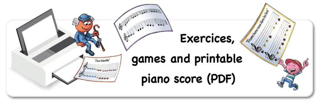 printable piano score